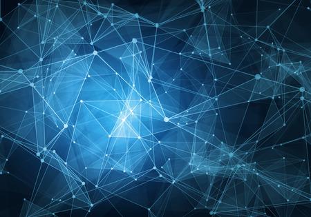 tecnologia: tecnologia azul abstrato no fundo grade digitais