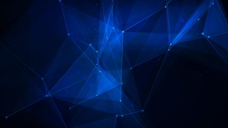 Abstracte blauwe achtergrond van het technologie digitale net Stockfoto - 51741135