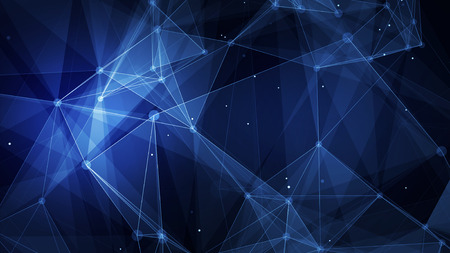 Abstract blue technology digital grid background image Stock Photo
