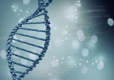 High technology DNA molecule background as biochemistry science concept