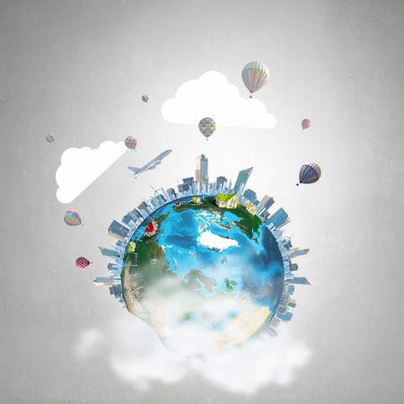 concepto del mundo entero con el planeta Tierra en el fondo de hormigón. Elementos de esta imagen proporcionada por la NASA se