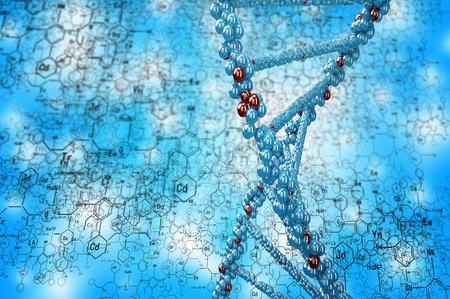 celulas humanas: Fondo de alta tecnología molécula de ADN como concepto de la ciencia bioquímica