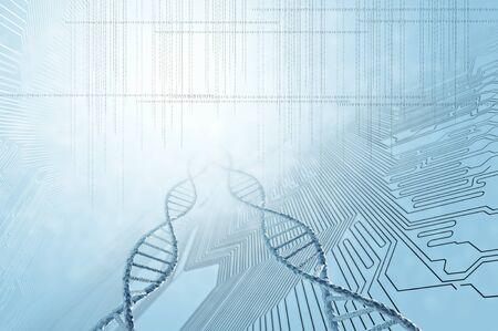 biotecnologia: Fondo de alta tecnología molécula de ADN como concepto de la ciencia bioquímica