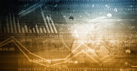 Digitale achtergrond met infographs en business concepten Stockfoto