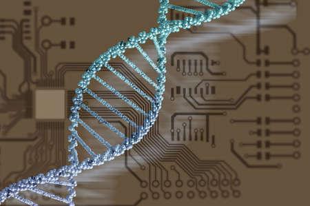 biochemistry: High technology DNA molecule background as biochemistry science concept Stock Photo