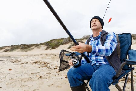 placidity: Picture of fisherman fishing with rods