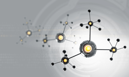 high tech: High tech background concept with molecule chain