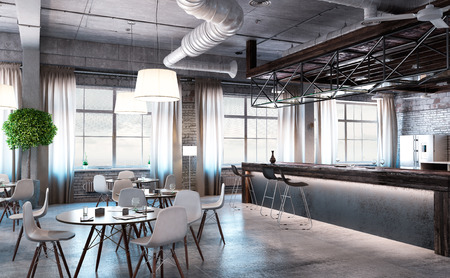 Moderne leeren Büro-Interieur als Design-Probe Standard-Bild - 57700206