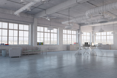 Modern empty office interior as design sample Stock Photo