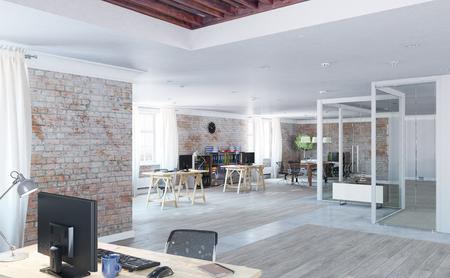 Modern empty office interior as design sample Archivio Fotografico