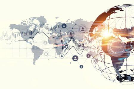 Digitale achtergrond die globaal verbindingsconcept voorstelt Stockfoto