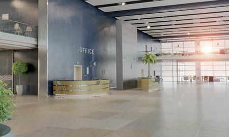 Moderne leeren Büro-Interieur als Design-Probe Standard-Bild - 59967442