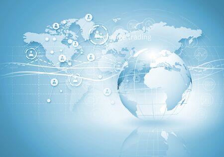 Image de fond numérique présentant le concept de connexion globale