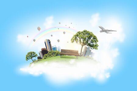 Image conceptuelle du concept de construction écologique Banque d'images