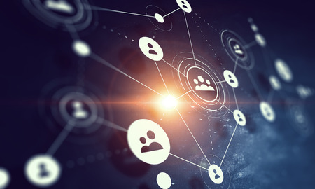 Background image with web social connection concept