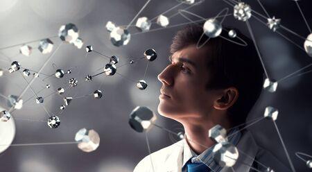 Las tecnologías innovadoras como el concepto de la ciencia y la medicina Foto de archivo