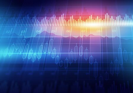 Techno equalizer background with waves and streams Stock Photo