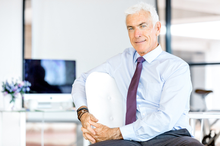 mature business man: Handsome businessman at the office
