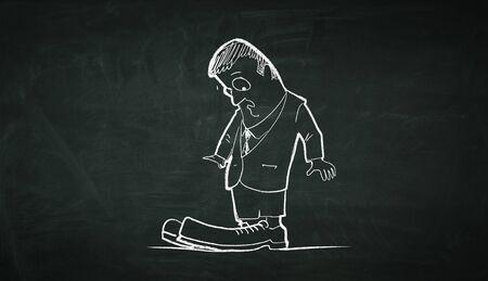 zapatos caricatura: caricatura de personaje negocio. Medios compuestos