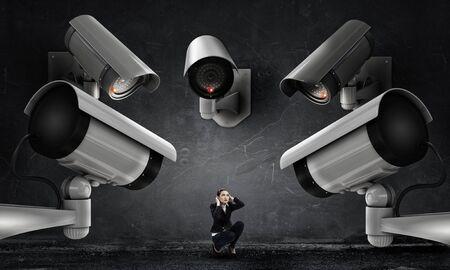 keep an eye on: Camera keep an eye on woman