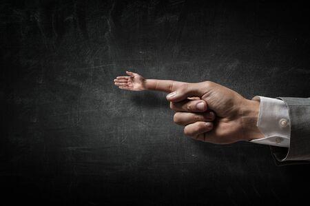 forefinger: Greeting gesture on forefinger