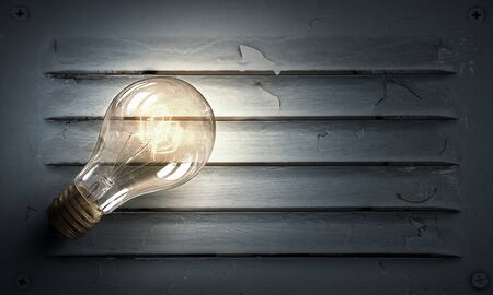 electric bulb: Electric bulb on texture