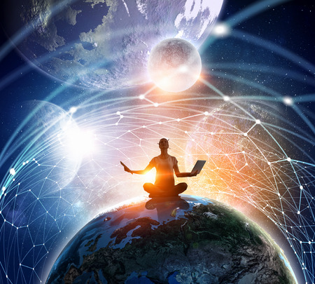 Our unique universe . Mixed media Фото со стока - 70567805