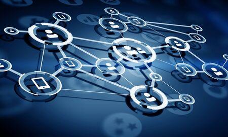 Contexte du réseau social. Médias mélangés