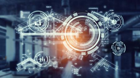 産業の革新的な技術。ミクスト メディア