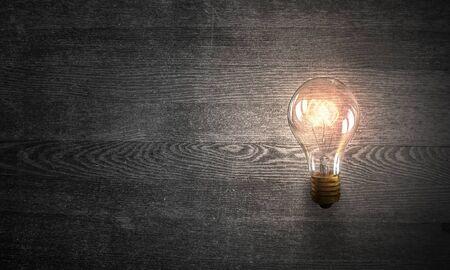 electric bulb: Electric glass bulb . Mixed media