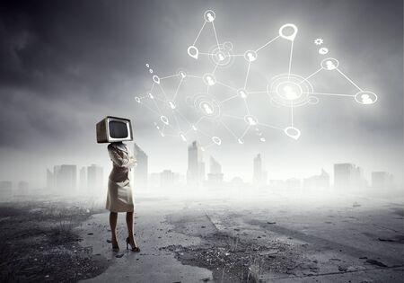 mixed media: Problem of television addiction . Mixed media . Mixed media
