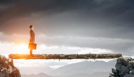 Surmonter la peur de l'échec. Techniques mixtes. Techniques mixtes Banque d'images