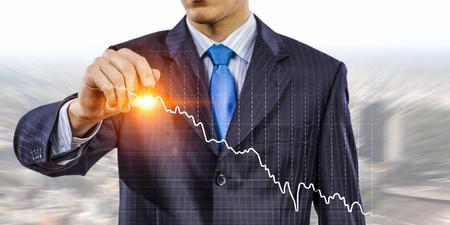 Dynamics of financial growth . Mixed media Stock Photo