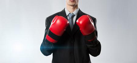 Mister boss ready to fight . Mixed media Imagens