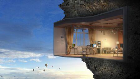 Realize your interior dream. Mixed media Stock Photo