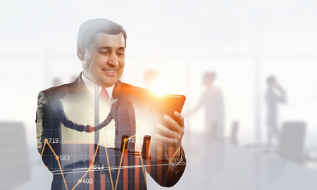 E-business and networking concept Stock Photo