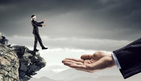 Leap of faith concept