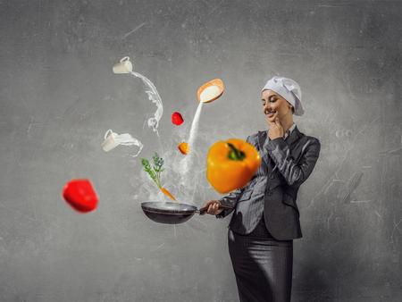 woman handle success: Receipt of success achieving