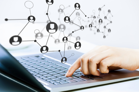 Social connection and networking Stock Photo