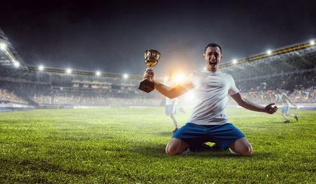 Er ist der Champion. Gemischte Medien Standard-Bild - 78279006
