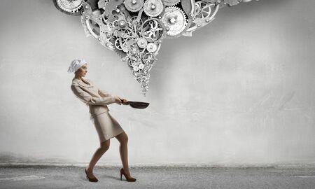 mixed media: Receipt of success achieving . Mixed media Stock Photo