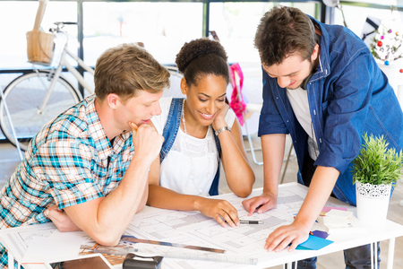study group: Young office workers or students as a team
