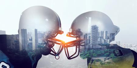 Exposure of American football players . Mixed media