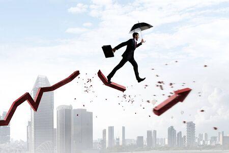 Not afraid to risk. Mixed media Stock fotó