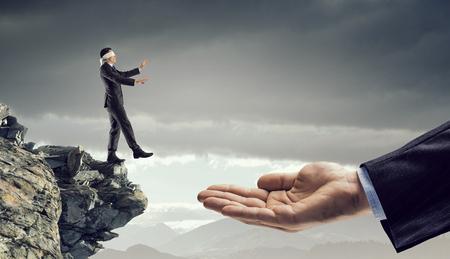 Concepto de salto de la fe Foto de archivo