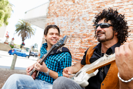 Feel the music Stock Photo