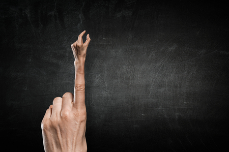 Finger clutch gesture Banco de Imagens