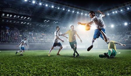 Voetbal heetste momenten Stockfoto - 79819366