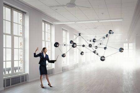 futuristic interior: Technologies for social cooperation . Mixed media