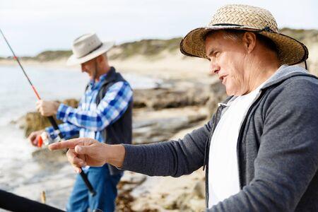 Picture of fisherman Reklamní fotografie - 80056403
